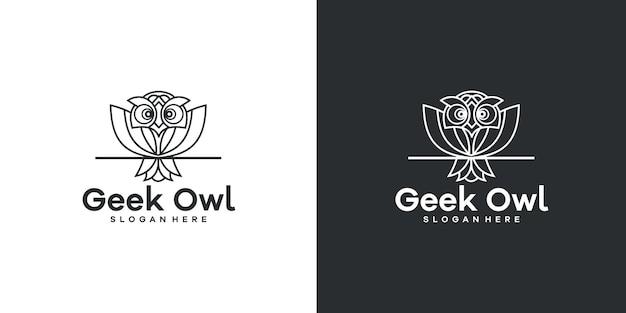 Styl linii projektu logo sowy