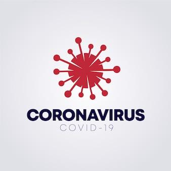 Styl logo dla koronawirusa