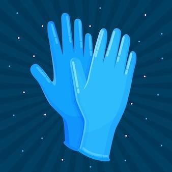 Styl medycznych rękawic ochronnych