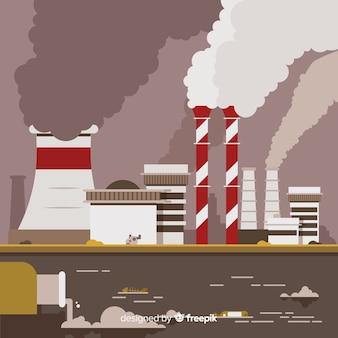 Styl mieszkanie tło koncepcja zanieczyszczenia