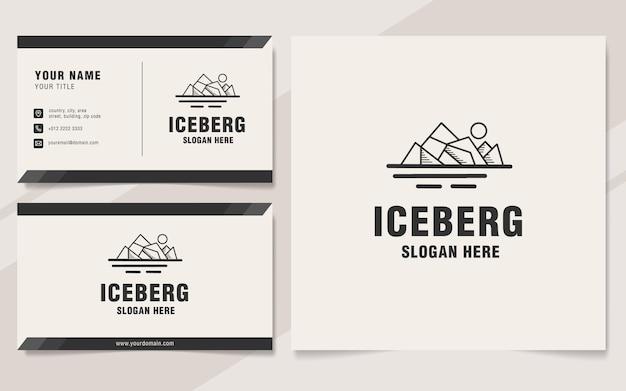 Styl monogram szablonu logo góry lodowej w stylu vintage