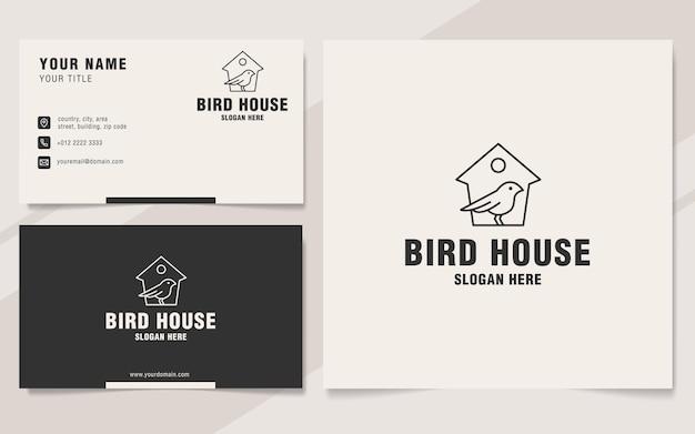 Styl monogramu logo domu ptaka