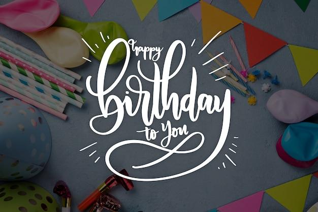 Styl obchodów urodzin na napis