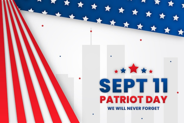 Styl papieru 9.11 tło dzień patriota
