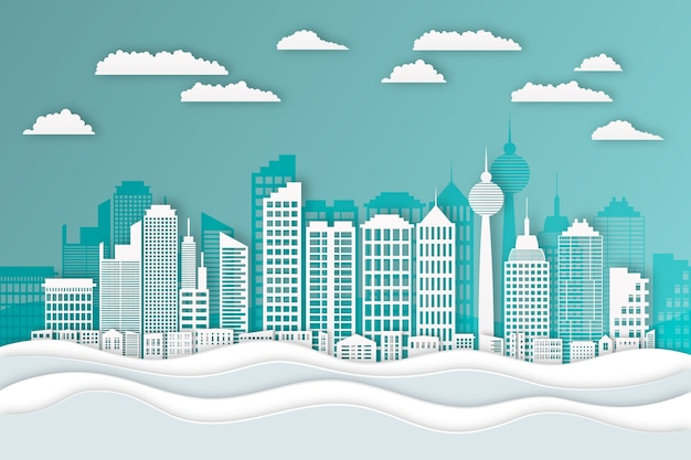 Styl papieru dla panoramę miasta