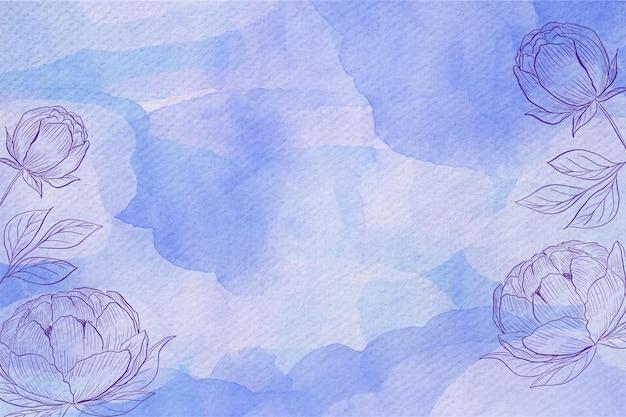Styl pastelowy akwarela tło w proszku