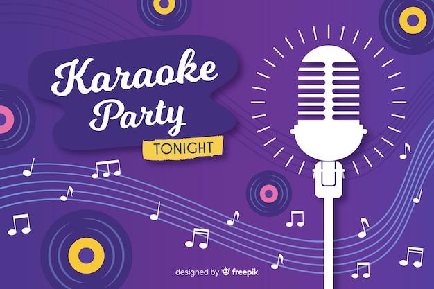 Styl płaski szablon transparent karaoke