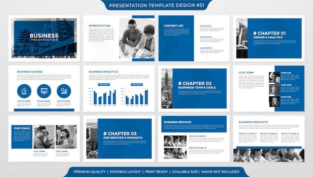 Styl premium szablon układu prezentacji biznesowych