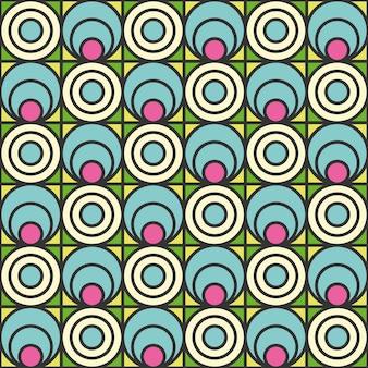Styl retro streszczenie geometryczny wzór.
