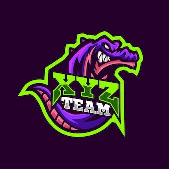 Styl sportowy dragon maskotki logo