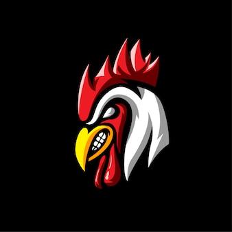Styl sportowy logo zwierząt koguta