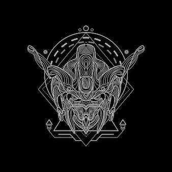 Styl świętej geometrii rycerza żelaza
