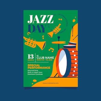 Styl szablon plakat międzynarodowy dzień jazzu