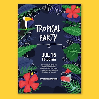 Styl szablon tropikalny plakat party