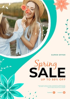Styl szablon ulotki sprzedaż wiosna