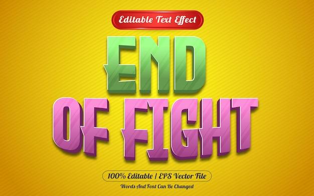 Styl szablonu edytowalnego efektu tekstowego końca walki