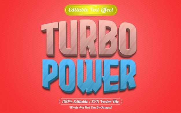 Styl szablonu edytowalnego efektu tekstowego turbo power