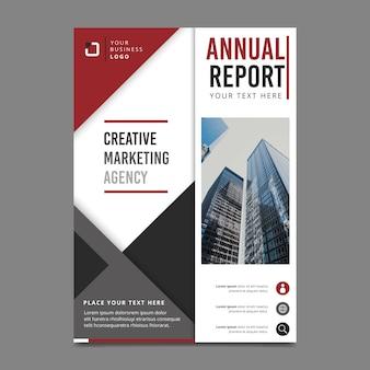Styl szablonu raportu rocznego ze zdjęciem