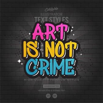 Styl tekstu graffiti