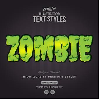 Styl tekstu śluzu zombie