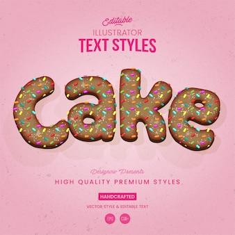 Styl tekstu tortu urodzinowego