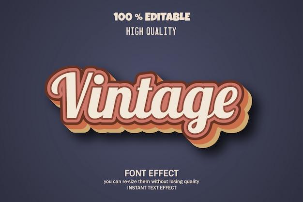 Styl tekstu w stylu vintage, efekt czcionki edytowalnej