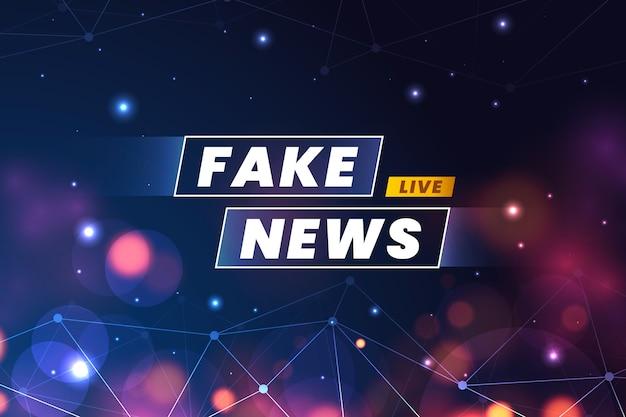 Styl tła fałszywych wiadomości
