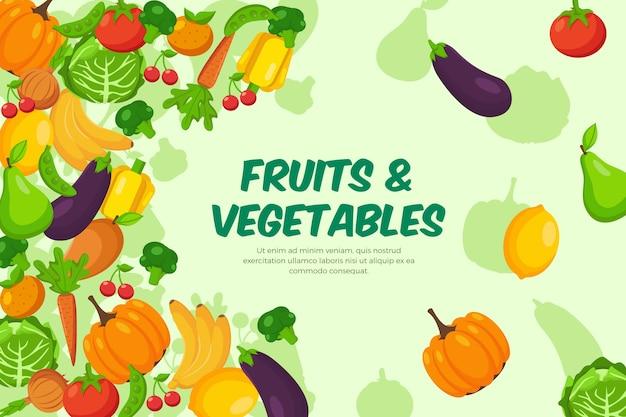 Styl tła owoców i warzyw