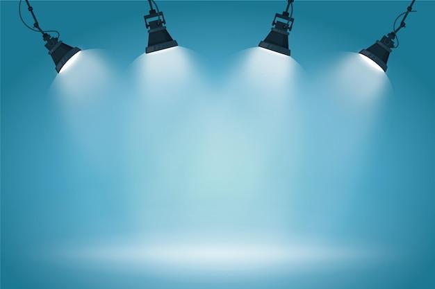 Styl tła świateł punktowych