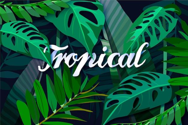 Styl tropikalny napis