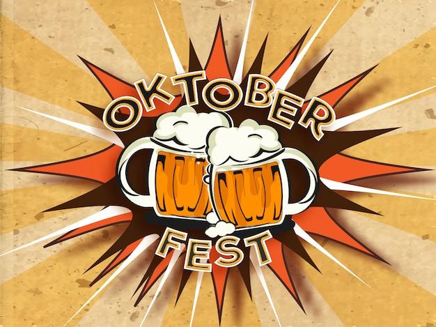 Styl vintage tekst oktoberfest