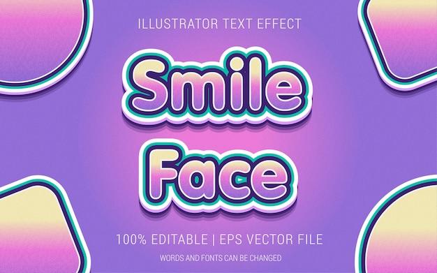 Styl wpływ tekstu uśmiechu twarzy