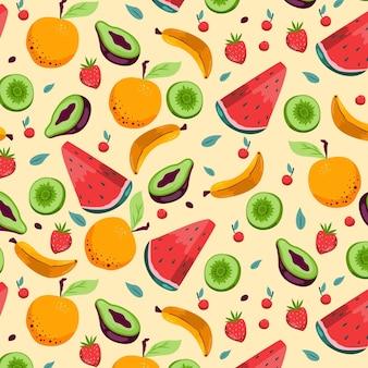 Styl wzór owoców