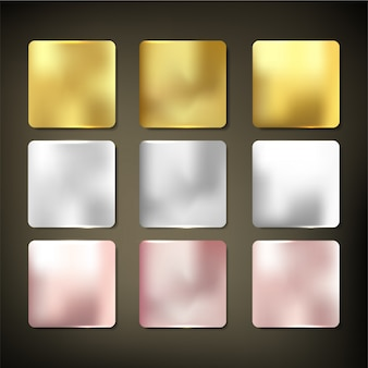 Styl zestaw tekstury złota materiału