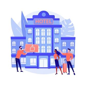 Styl życia hotel streszczenie koncepcja ilustracja