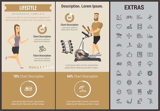Styl życia infographic szablon, elementy i ikony