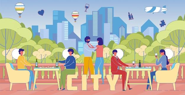 Styl życia miasta rekreacja słowo koncepcja transparent