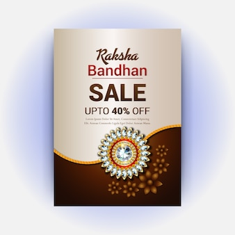 Style raksha bandhan projekt karty z pozdrowieniami
