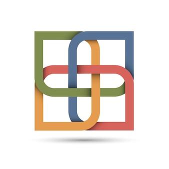 Stylizowana abstrakcjonistyczna ikona dla projekta