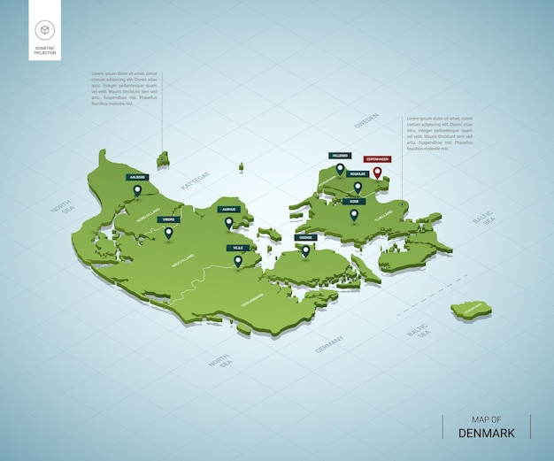 Stylizowana mapa danii.