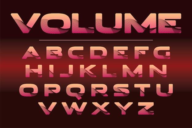 Stylizowane kolorowe czcionki i alfabet dla logo