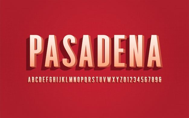 Stylizowane san serif skondensowany alfabet wektorowy, czcionka, krój pisma, litery i cyfry.