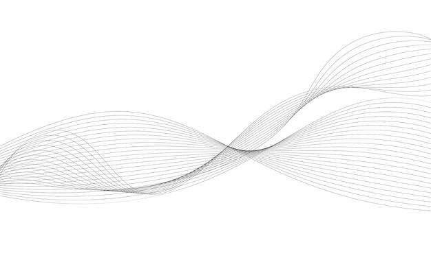 Stylizowane tło linii fali