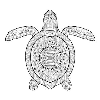 Stylizowany podwodny żółw
