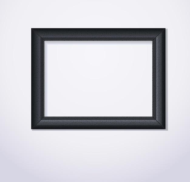Stylowa czarna ramka na zdjęcia ilustracji wektorowych