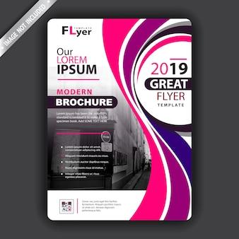 Stylowa falista broszura