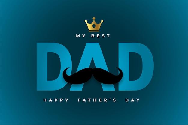 Stylowa kartka z pozdrowieniami dzień ojca ze złotą koroną