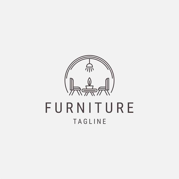 Stylowa linia mebli logo luksusowy wystrój wnętrz