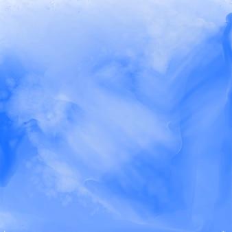 Stylowa niebieska abstrakcyjna akwarela tekstury