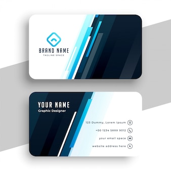 Stylowa niebieska linia wizytówki profesjonalny design